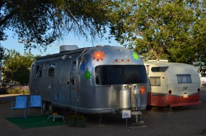Vintage Trailers at Enchanted RV Park