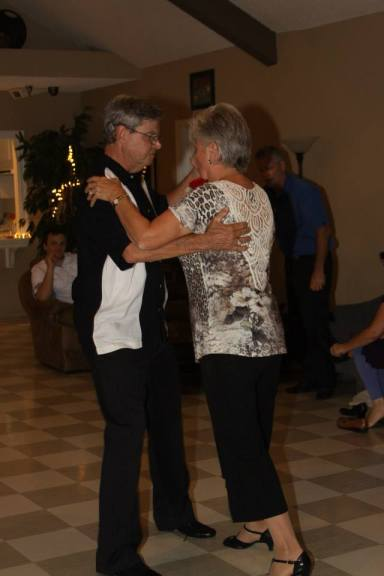 A little dancing at Wedding family reception