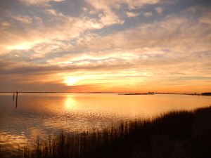 Gulf Coast National Sea Shore Sunset.  Jan 2015