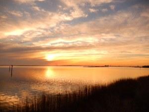 Gulf Coast National Sea Shore Sunset.  Jan 2015