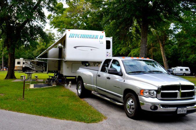 Our Davis Bayou Campsite