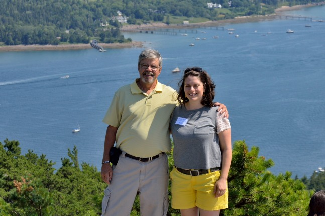 Phil and Jenny on top of Acadia Mountain