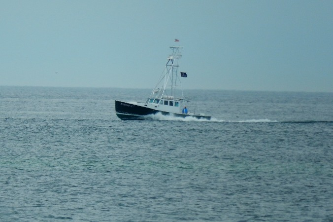 Lobster Boat returning to shore