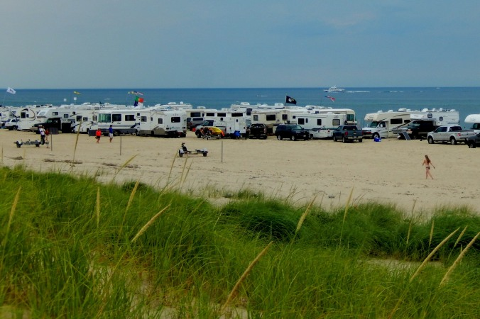 With a sand parking permit, one can camp close to the ocean