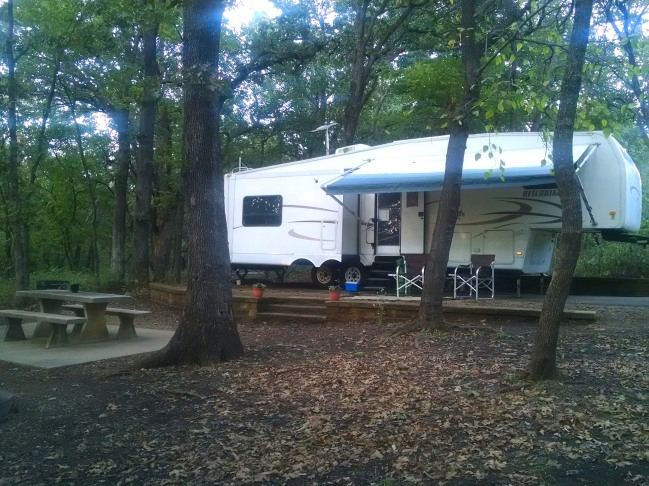 Large, secluded campsites